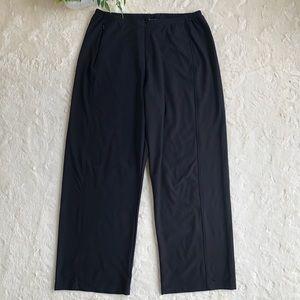 Nike extra wide leg black pants front zipper large